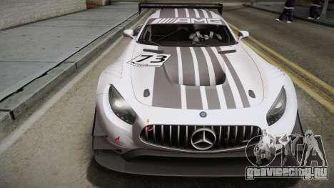 Mercedes-Benz AMG GT3 2016 PJ для GTA San Andreas вид сзади