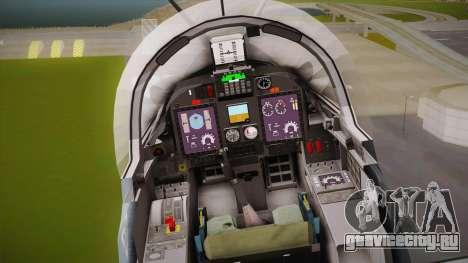 Embraer-314 Super Tucano для GTA San Andreas вид изнутри