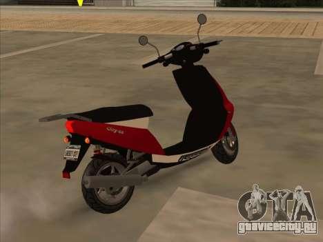 GTA IV Faggio для GTA San Andreas вид слева