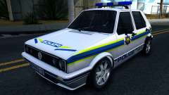 Volkswagen Golf White South African Police для GTA San Andreas