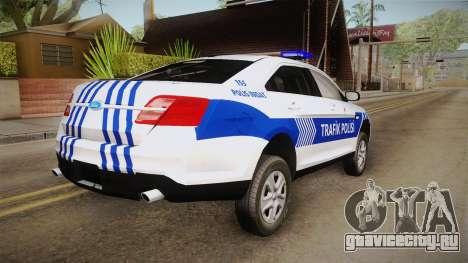Ford Taurus Turkish Traffic Police для GTA San Andreas вид справа