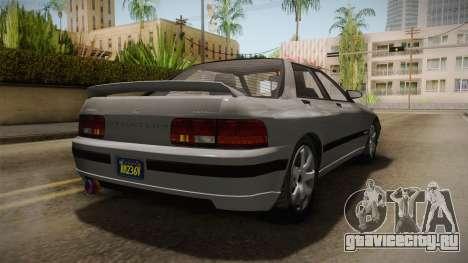 GTA 5 Zirconium Stratum Sedan для GTA San Andreas вид сзади слева