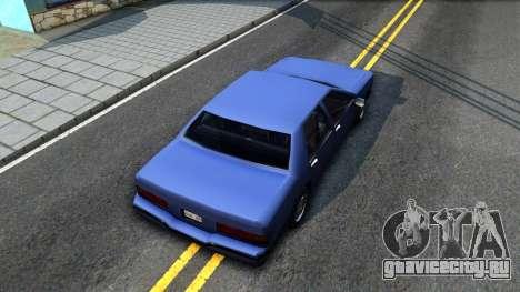 Restyle Elegant для GTA San Andreas вид сзади