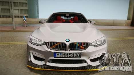 BMW M4 F82 2014 для GTA San Andreas вид сзади