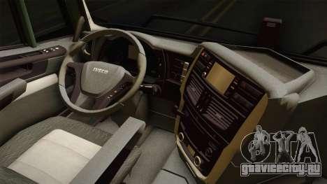 Iveco Trakker Hi-Land 6x4 Cab High v3.0 для GTA San Andreas вид изнутри