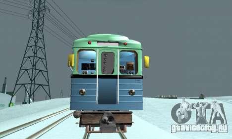 Состав типа Е ST_Metrostroi для GTA San Andreas вид сзади слева