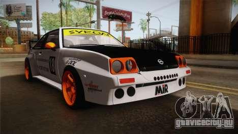Opel Manta Drift для GTA San Andreas вид справа