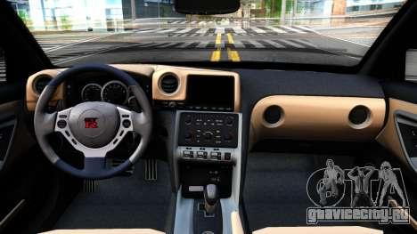 Nissan GT-R35 Rocket Bunny для GTA San Andreas вид изнутри