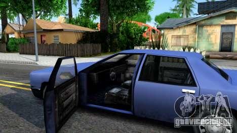 Restyle Elegant для GTA San Andreas вид изнутри