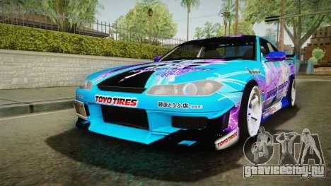 Nissan Silvia S15 Cirno Touho Project Itasha для GTA San Andreas