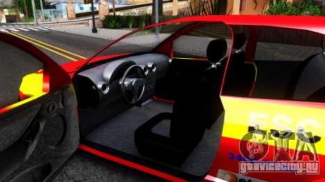 Chevrolet Celta для GTA San Andreas вид изнутри