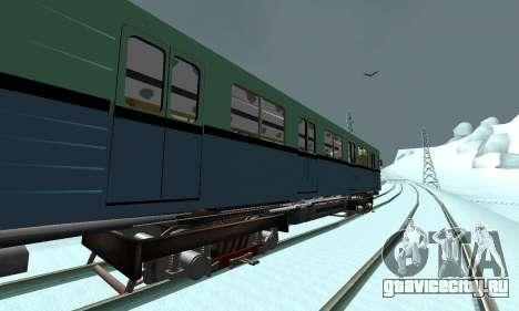 Состав типа Е ST_Metrostroi для GTA San Andreas вид сбоку