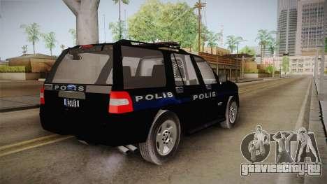 Ford Ranger Police для GTA San Andreas вид сзади слева