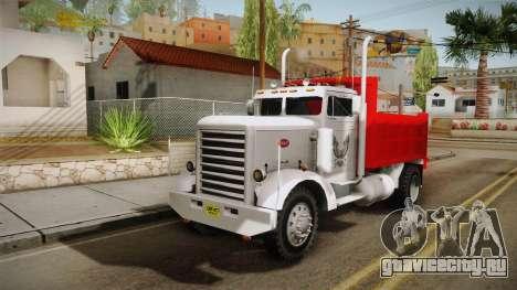 Peterbilt 351 Dump Truck для GTA San Andreas вид сзади слева