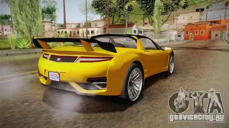 GTA 5 Dynka Jester Spider IVF для GTA San Andreas вид слева