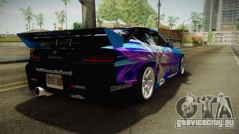 Nissan Silvia S15 Cirno Touho Project Itasha для GTA San Andreas вид сзади слева