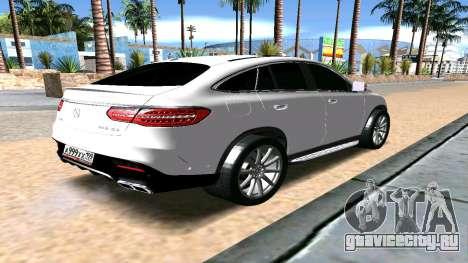 Mercedes-Benz GLE AMG для GTA San Andreas вид сзади слева