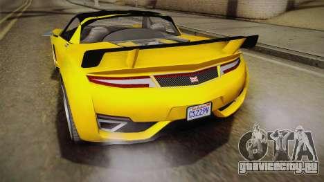 GTA 5 Dynka Jester Spider IVF для GTA San Andreas вид изнутри
