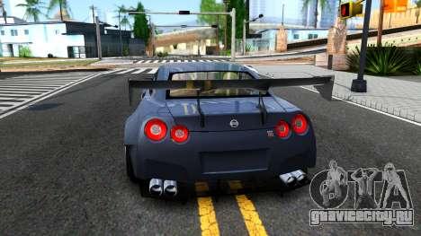 Nissan GT-R35 Rocket Bunny для GTA San Andreas вид сзади слева