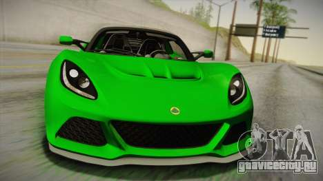 Lotus Exige Sport 350 Roadster Type 117 2014 для GTA San Andreas вид справа