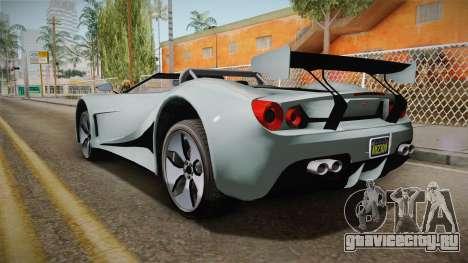 GTA 5 Vapid FMJ Roadster для GTA San Andreas вид слева