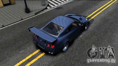 Nissan GT-R35 Rocket Bunny для GTA San Andreas вид сзади