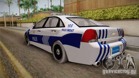 Chevrolet Caprice Turkish Police для GTA San Andreas вид слева