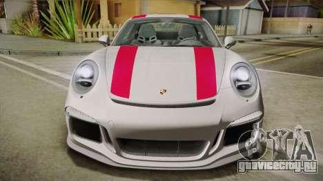 Porsche 911 R (991) 2017 v1.0 Red для GTA San Andreas вид справа