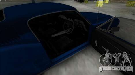 1967 Ford Mustang для GTA San Andreas вид сзади слева