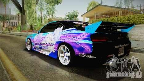 Nissan Silvia S15 Cirno Touho Project Itasha для GTA San Andreas вид слева