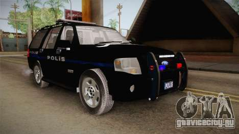 Ford Ranger Police для GTA San Andreas вид справа