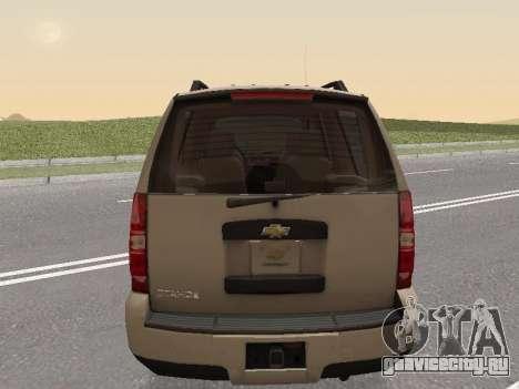 Chevrolet Tahoe Полиция ДПС для GTA San Andreas вид сзади слева