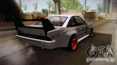 Opel Manta Drift для GTA San Andreas вид сзади слева
