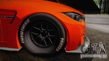 BMW M4 LB Performance для GTA San Andreas вид сзади слева
