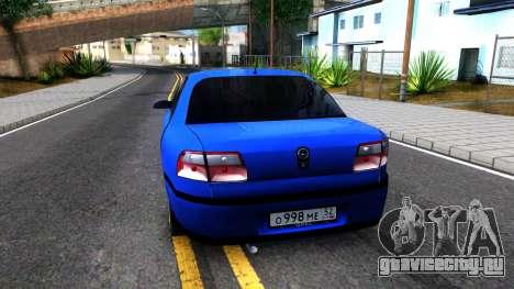 Opel Omega B 1998 для GTA San Andreas вид сзади слева