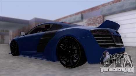 Audi R8 5.2 V10 Plus LB Walk V2.0 для GTA San Andreas вид слева