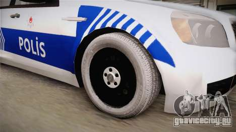 Chevrolet Caprice Turkish Police для GTA San Andreas вид сзади
