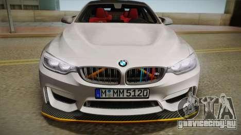 BMW M4 F82 2014 для GTA San Andreas вид справа