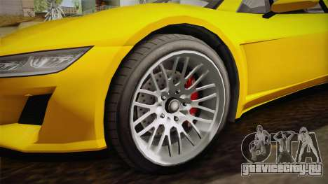 GTA 5 Dynka Jester Spider IVF для GTA San Andreas вид сзади