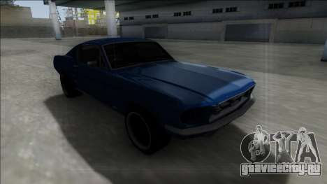1967 Ford Mustang для GTA San Andreas вид изнутри
