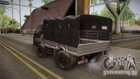 TAM 110 Vojno Vozilo для GTA San Andreas вид сзади слева