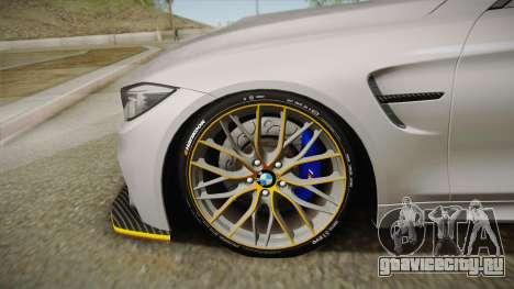 BMW M4 F82 2014 для GTA San Andreas вид сзади слева