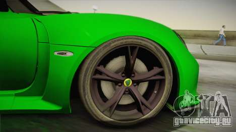 Lotus Exige Sport 350 Roadster Type 117 2014 для GTA San Andreas вид сзади слева