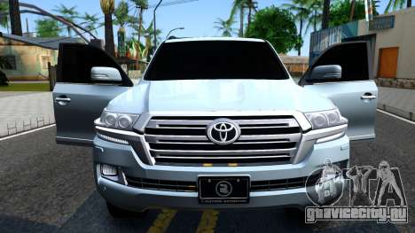 Toyota Land Cruiser 200 2016 PML Edition для GTA San Andreas вид изнутри