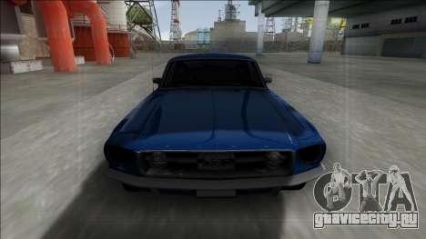 1967 Ford Mustang для GTA San Andreas вид сзади