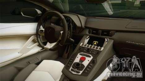 Lamborghini Aventador LP700-4 PMERJ для GTA San Andreas вид изнутри