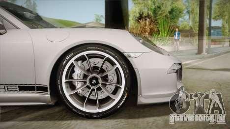 Porsche 911 R (991) 2017 v1.0 Red для GTA San Andreas вид сзади слева