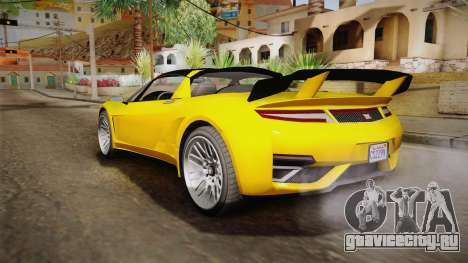 GTA 5 Dynka Jester Spider IVF для GTA San Andreas вид справа