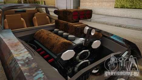 Ford Gran Torino Mad Max для GTA San Andreas вид изнутри