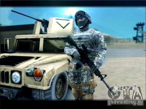 New Military USA Skin для GTA San Andreas